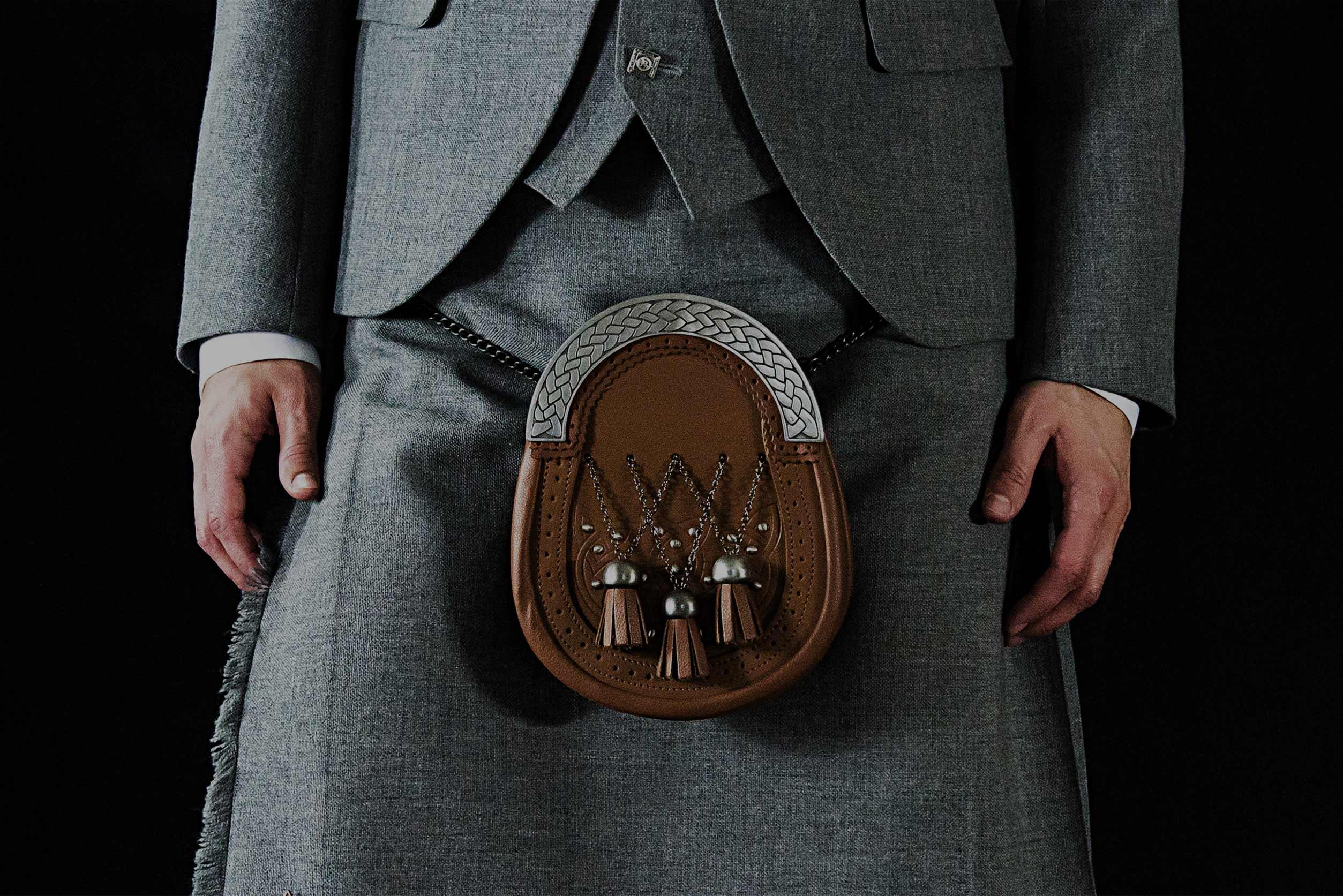 Titanium Tweed Kilt Outfit