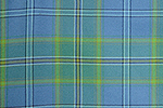All Ireland Blue Tartan Pure 10oz wool woven in Scotland