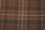 Auld Land Syne Brown Tartan Pure 16oz wool woven in Great Britain