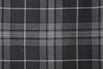 Grey Granite Tartan Pure 13oz wool woven in Scotland