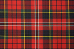 MacPherson Red Tartan Pure 16oz wool woven in Great Britain