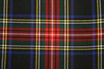 Stewart Black Tartan Pure 16oz wool woven in Scotland